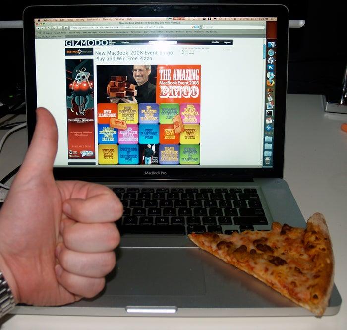 Giz Bingo Winner Is Now One Pizza Happier