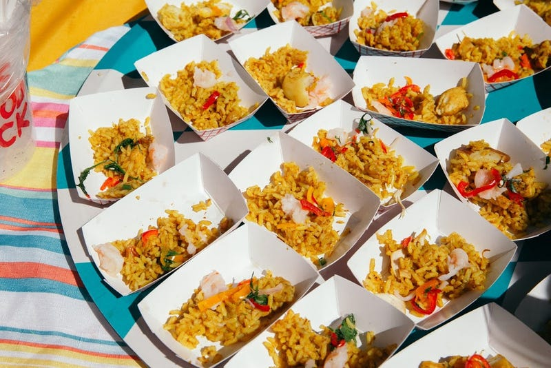 Rice and shrimp were some of the many plates available to those who attended Harlem Eat Up, the annual celebration of the iconic black neighborhood's food, culture, and art