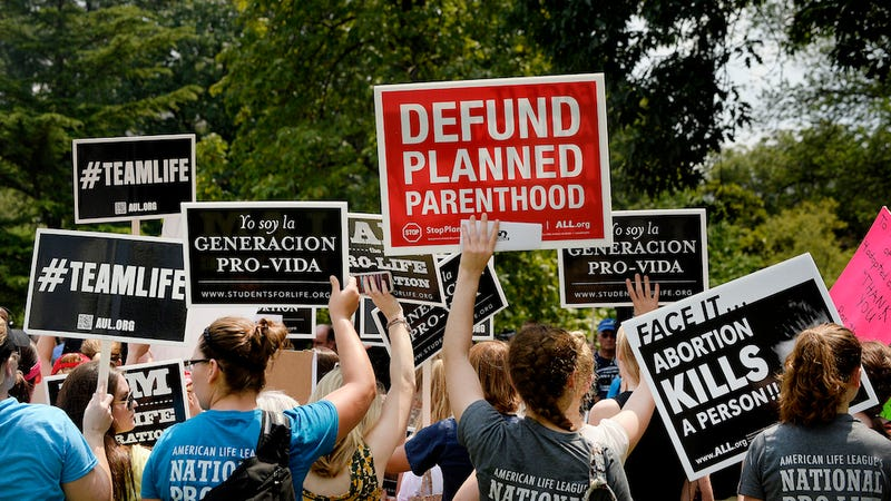 Illustration for article titled The House Has Voted to Defund Planned Parenthood, Could Lead to a Government Shutdown