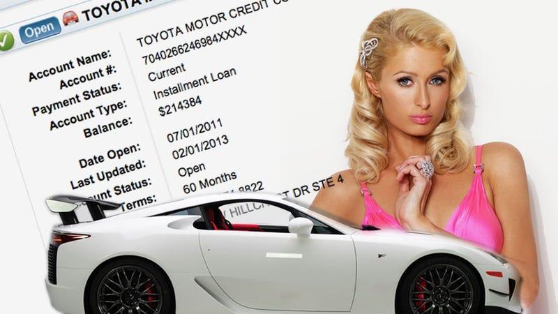 Illustration for article titled Paris Hilton Pays $5,603 A Month For Her Lexus