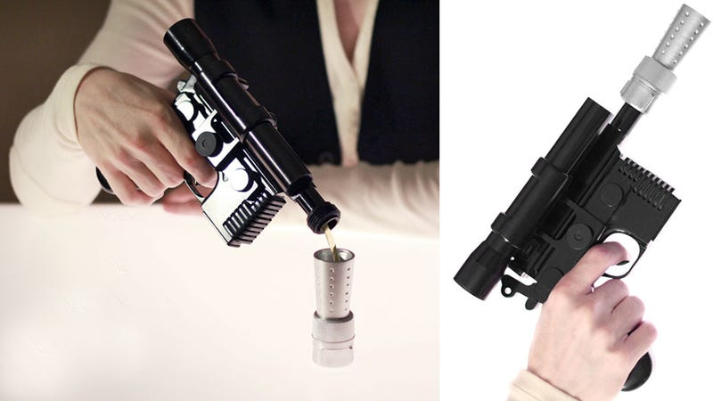 Illustration for article titled Take the First Shot With a Han Solo Blaster Flask