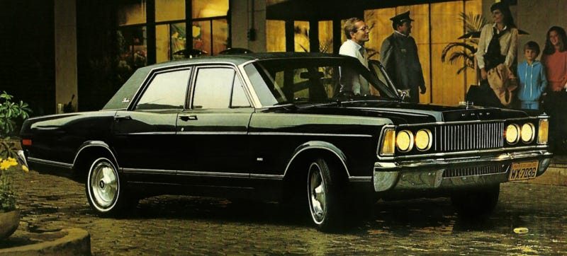 Illustration for article titled This 1970s Lincoln Is Really A Brazilian 1980s Ford From The '60s