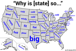 Each States Biggest Stereotype According To Google - State stereotypes alabama