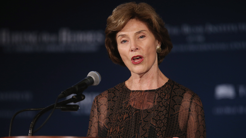 Illustration for article titled Laura Bush Says America Is Going Through a 'Xenophobic' Phase