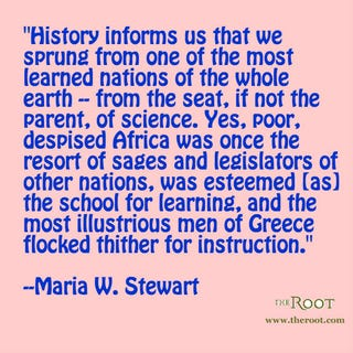 Illustration for article titled Quote of the Day: Maria W. Stewart on Africa