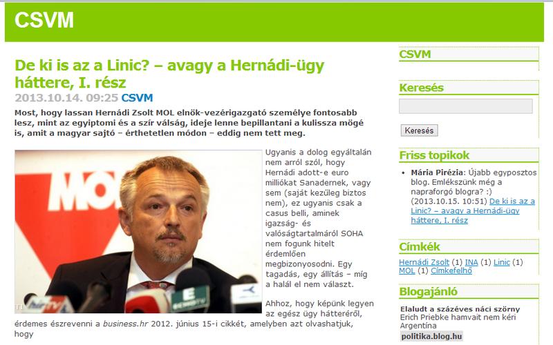Illustration for article titled Pikk-pakk Index-címlapra került a Hernádit védő, KDNP-közeli blogposzt