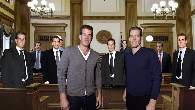 Illustration for article titled They're Back! The Winklevoss Twins Are Suing Facebook Again, And This Time There Are Even More Of Them