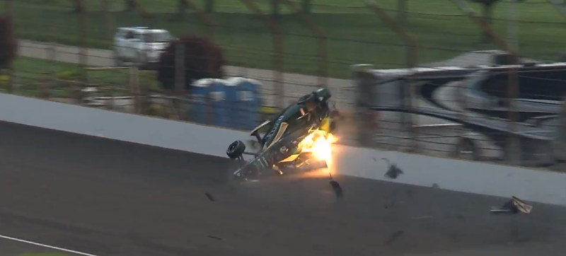 Illustration for article titled Ed Carpenter Escapes Unharmed After Latest Terrifying IndyCar Flip
