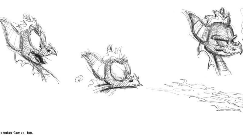 Illustration for article titled See How Spyro The Dragon Evolved In These Early Sketches