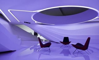 Illustration for article titled The Boardroom of the Future is Bright, White, And Pretty Tron-Like