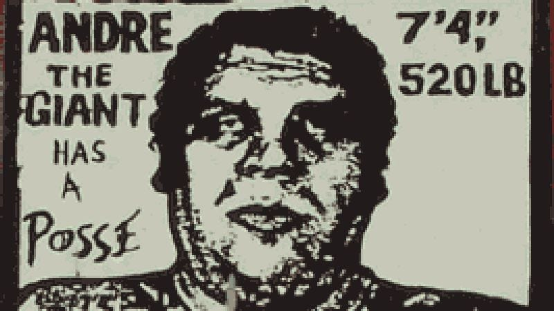 "Shepard Fairey's ""Andre The Giant"" stencils were ubiquitous in 1990s New York."