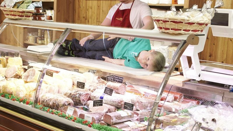 Illustration for article titled This Make-A-Wish Kid Couldn't Decide What He Wanted So They Slid Him Along A Deli Counter Like A Sandwich
