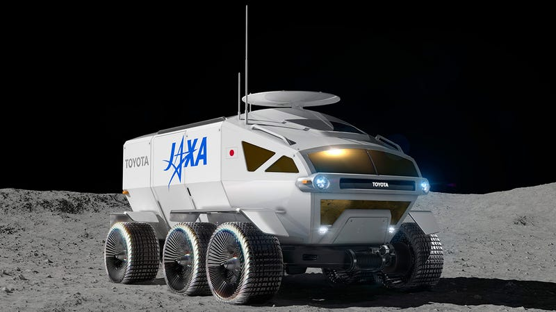Illustration for article titled La agencia espacial japonesa quiere poner en la Luna este espectacular rover presurizado para 2029