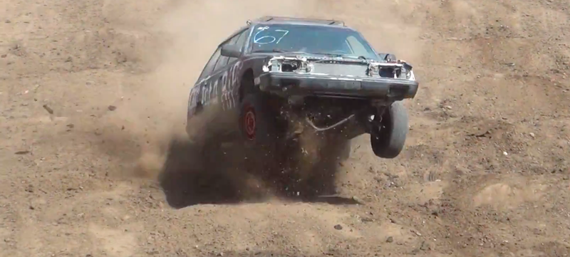 Illustration for article titled $75 Subaru Tackles Tuff Truck Course, Wins My Heart