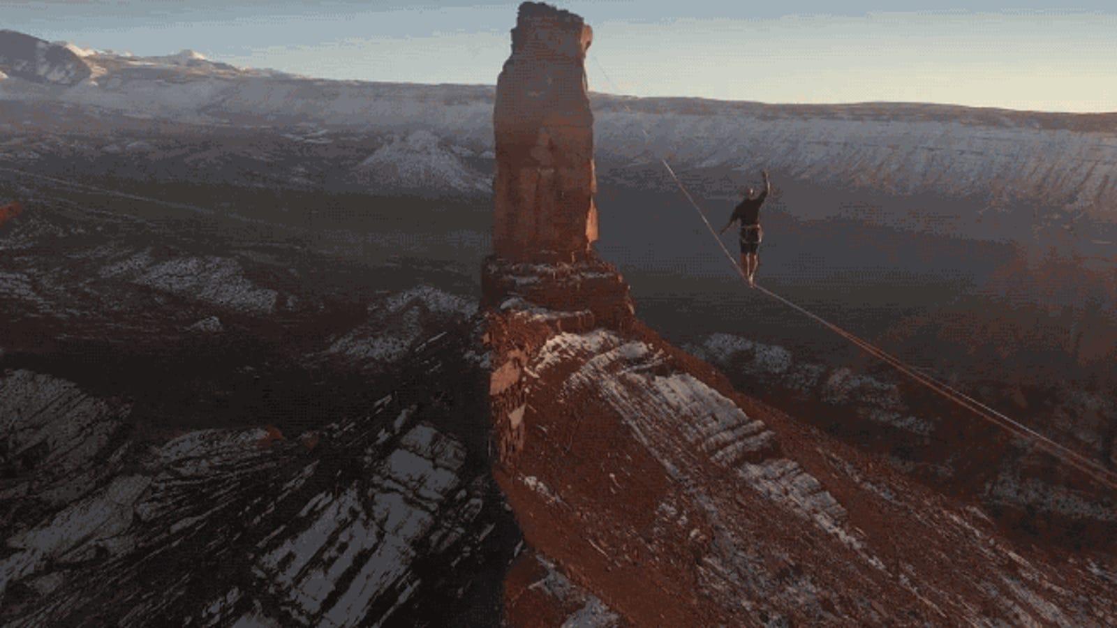 Esta acrobacia sobre el desierto de Utah, además de un récord mundial, es espectáculo puro