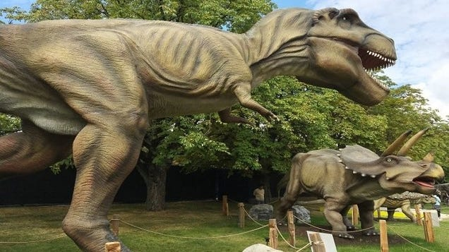 Time to Build Your Own Jurassic Park Because Someone Is Auctioning 50+ Life-Size Animatronic Dinos