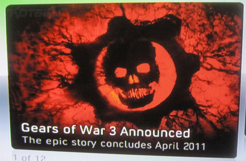 Illustration for article titled Gears Of War 3, Coming April 2011