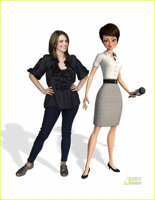 Illustration for article titled Tina Fey's Megamind Character Has An Impossibly Tiny Waist
