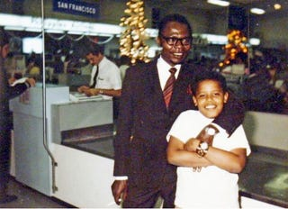 Barack Obama with his father, Barack Obama Sr., in an undated family photo from the 1960s released by Obama's presidential campaignObama for America