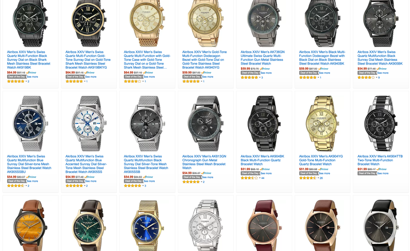 Akribos Men's Watch Sale