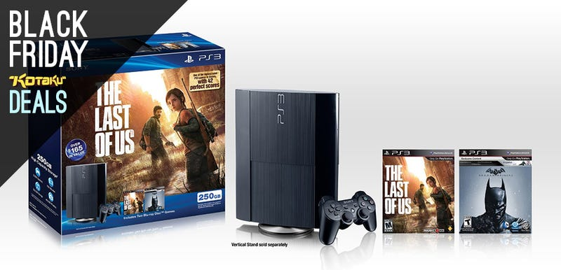 Illustration for article titled Playstation 3 Bundle With The Last Of Us And Arkham Origins $180