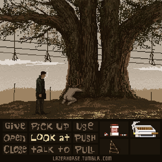 Illustration for article titled True Detective As A Lucasarts Point-And-Click Adventure