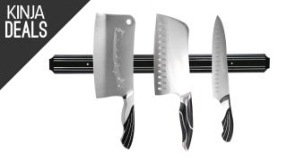 Store Your Knives Above the Counter With This Magnetic Strip
