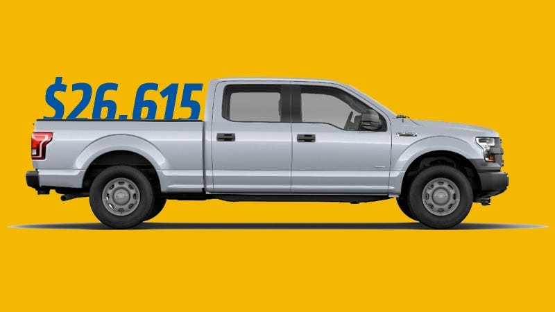Illustration for article titled The 2015 Ford F-150's New MSRP Is $26,615