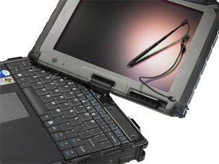 Illustration for article titled Getec V100 Tablet PC Laughs in the Face of Danger