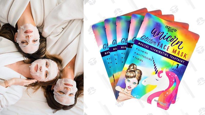 5-Pack Glitter Face Masks | $6 | Amazon | Promo code UNICOR70