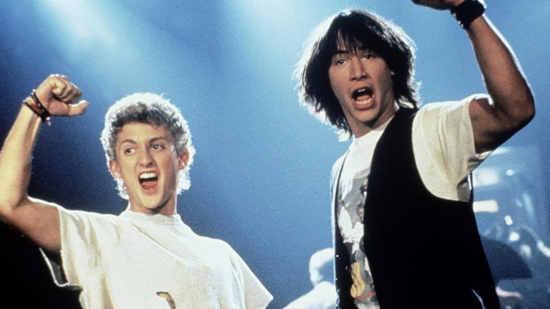Party on, dudes! Bill and Ted will return in a third film.