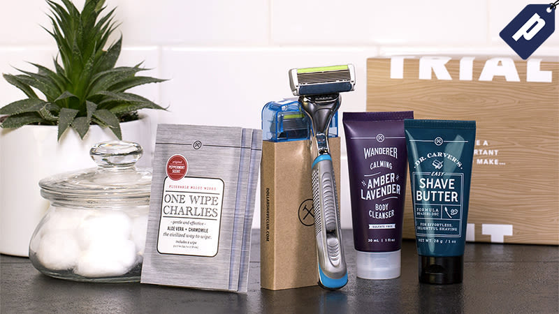 Illustration for article titled Get Dollar Shave Club's Starter Set: Razors, Shave Butter, Body Cleanser, & Wipes, Just $5