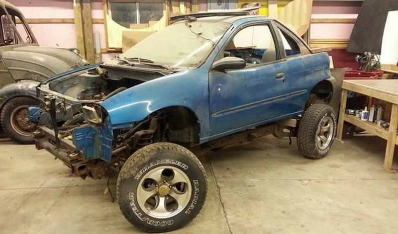 this geo metro on a wrangler frame is a jeeper 39 s worst nightmare. Black Bedroom Furniture Sets. Home Design Ideas