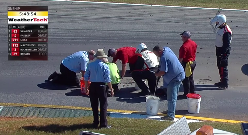 Illustration for article titled Road Atlanta Is Falling Apart In The Middle Of Petit Le Mans