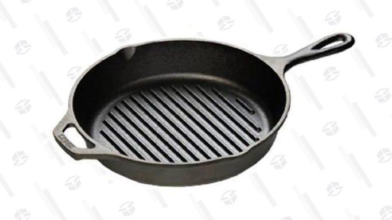 Lodge L8GP3 Cast Iron Grill Pan, 10.25-inch | $15 | Amazon