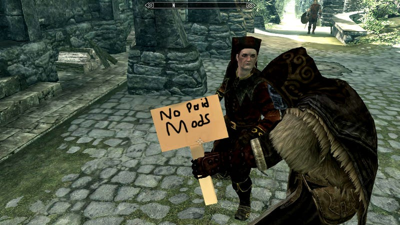 Illustration for article titled Steam's Most Popular Skyrim Mod Is A Protest Against Paid Mods