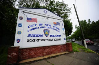 A view of the entrance to Rikers Island penitentiary complex in New York City in 2011Emmanuel Dunand/AFP/Getty Images