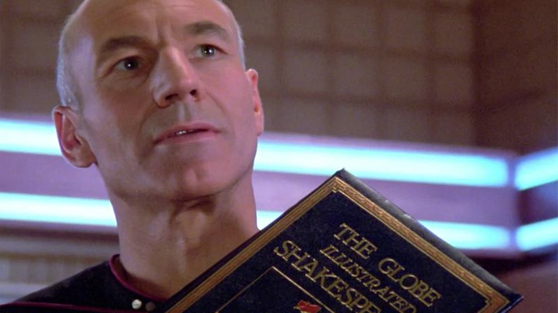 Jean-Luc Picard and a rather large book factor into two of my own resolutions this year.