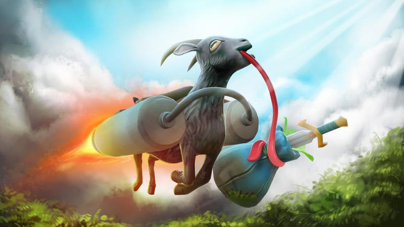 Illustration for article titled The Goat From Goat Simulator Would Make An Excellent Dota 2 Courier