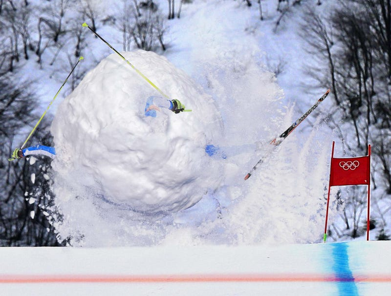 Illustration for article titled Growing Ball Of Snow, Outstretched Limbs Barreling Down Slopes Wins Silver