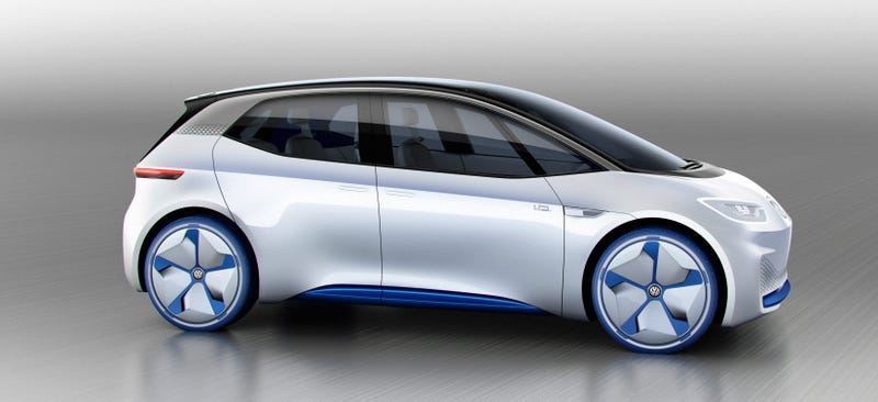 the volkswagen i d is the electric future of compact cars with a 373 mile range. Black Bedroom Furniture Sets. Home Design Ideas