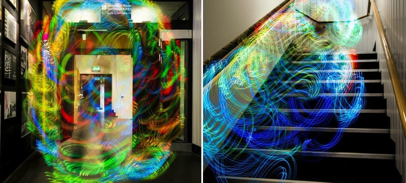 Illustration for article titled These Light Paintings Show How Wi-Fi Swirls and Shifts Around You