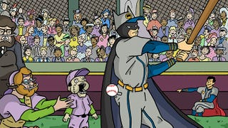 Illustration for article titled Batman At Bat fan project sends the Dark Knight to the baseball diamond