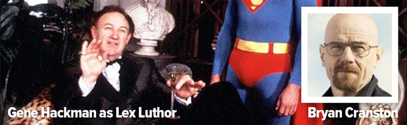 Illustration for article titled SuperBad: Breaking Bad villain Bryan Cranston will play Lex Luthor
