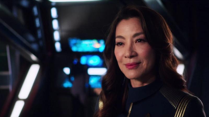 Michelle Yeoh as Captain Georgiou.