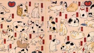 Illustration for article titled Cats Make for Wonderful Japanese Art