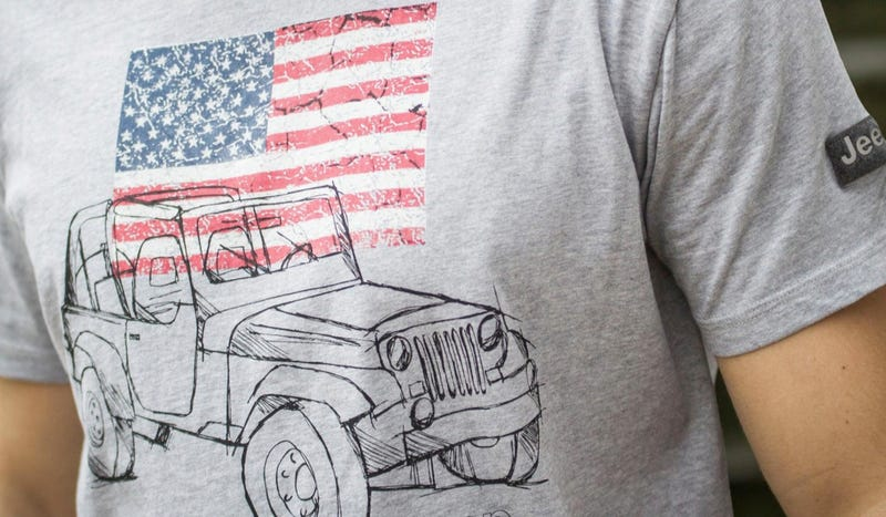 Illustration for article titled Jeep Wants To Sell Brits American Shirts To Go With Their American SUVs