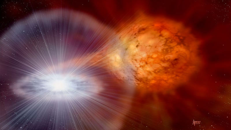 Illustration for article titled Astronomers Observe An Expanding Nova Fireball For The First Time