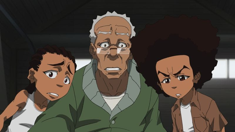 """Illustration for article titled The Boondocks: """"Early Bird Special"""""""