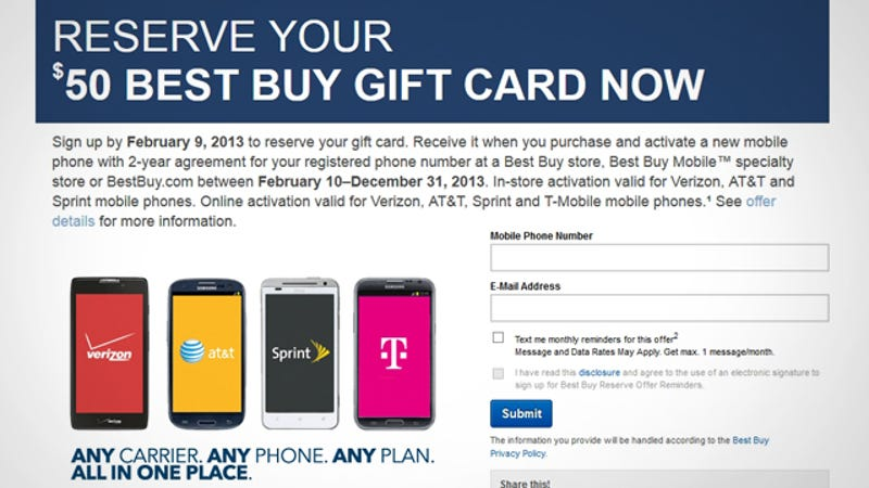 Get a $50 Best Buy Gift Card When You Upgrade Your Phone This Year